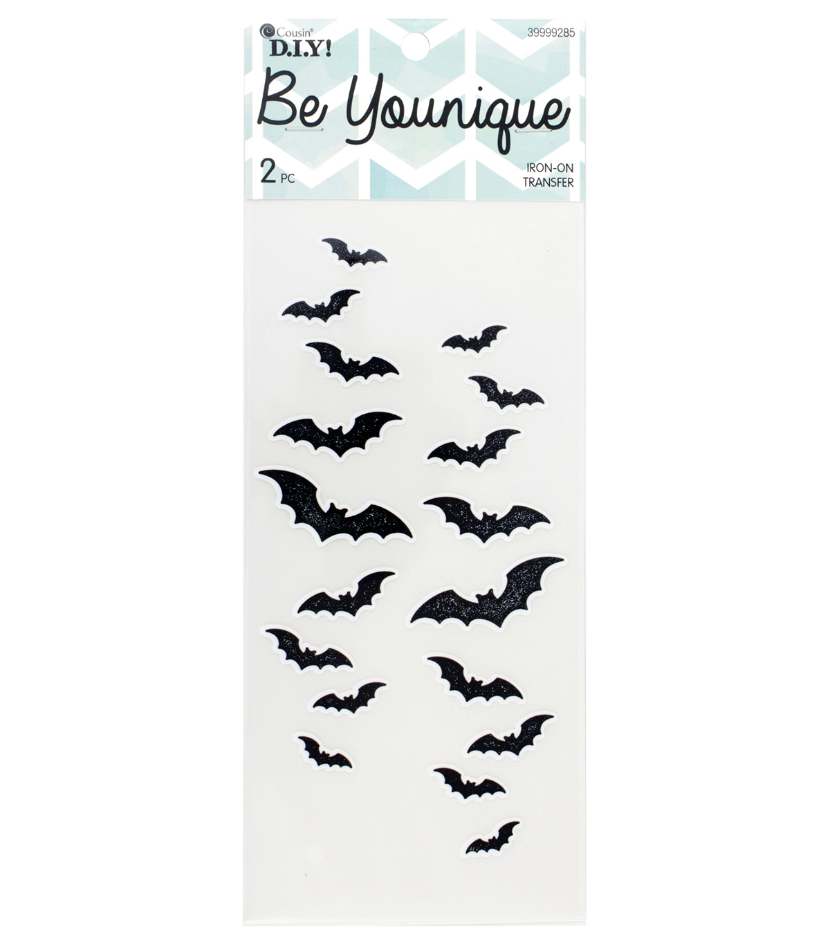 Cousin® DIY Be Younique 2 Pack Sleeve Iron-On Transfers-Bats