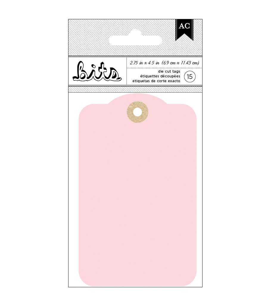 American Crafts Pink Cardstock Tags 2.75''x4.5''