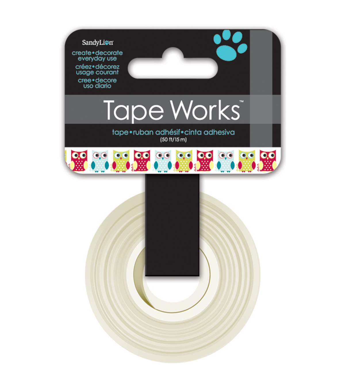 Tape Works Tape .625\u0022X50\u0027-Owls