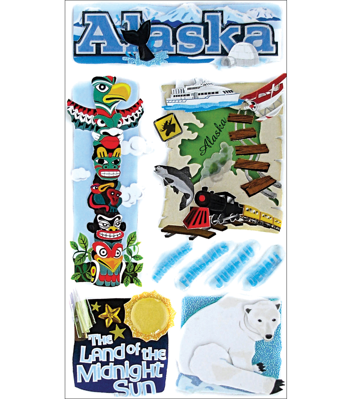 Jolee\u0027s Boutique Dimensional Stickers-Alaska