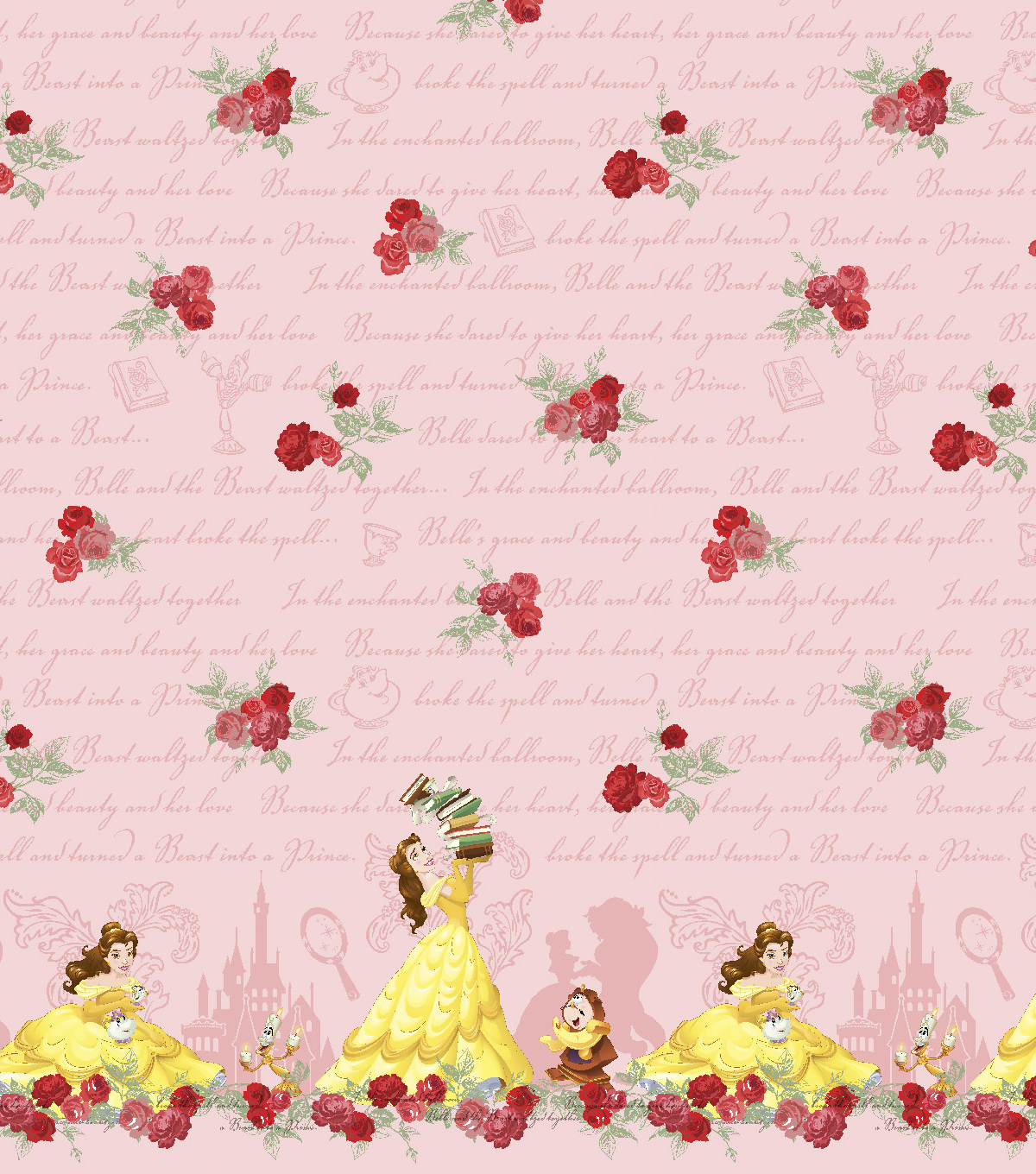 Disney® Mock Smock Fabric 21\u0022-Beauty and The Beast