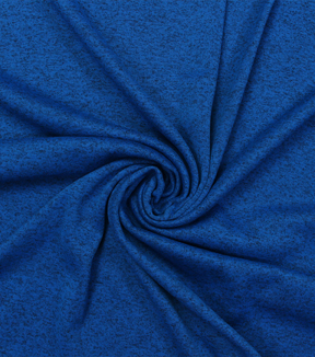 "Sweater Knit Fabric 59""-Princess Blue Heathered"