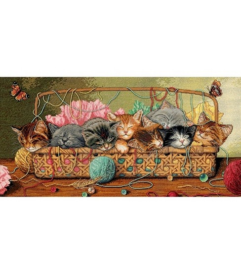 Dimensions Gold Collection Counted Cross-Stitch Kit Kitty Litter