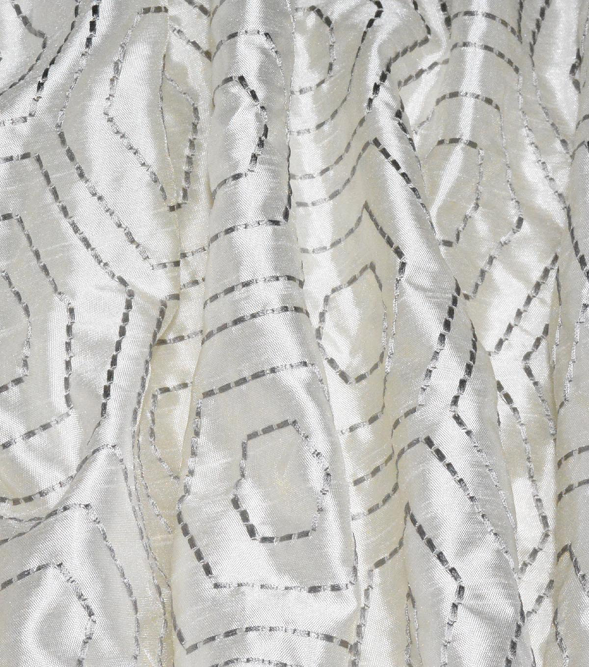 Waverly Embroidered Upholstery Fabric 54\u0027\u0027-Sterline Solstice