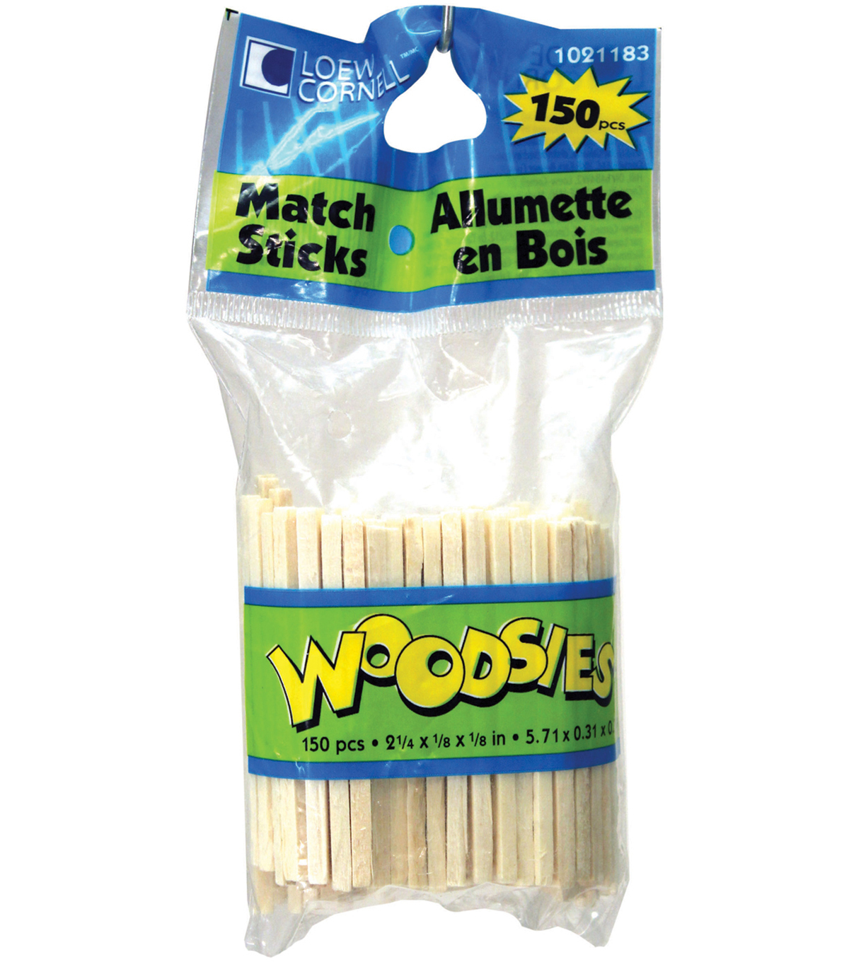 Woodsies Match Sticks-2-1/4\u0022X1/8\u0022X1/8\u0022 150/Pkg