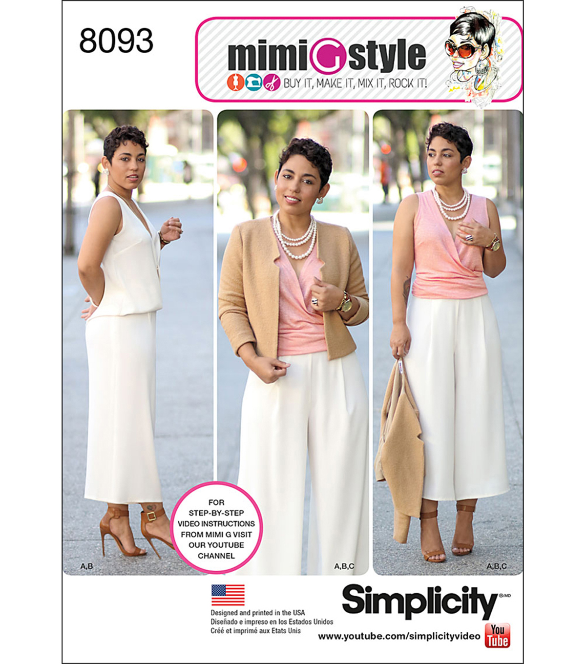 Simplicity Patterns US8093H5 Sportswear-6-8-10-12-14