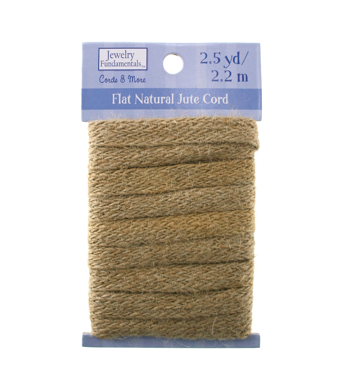 Jewelry Fundamentals Cords & More Flat Natural Jute Cord - Tan