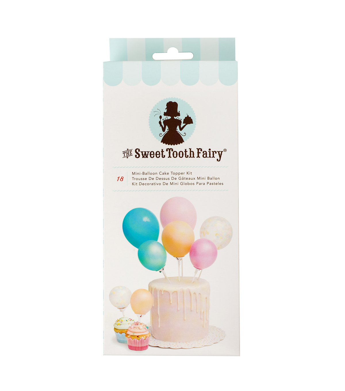 The Sweet Tooth Fairy 18 pk Mini-Balloon Cake Topper Kit-Color