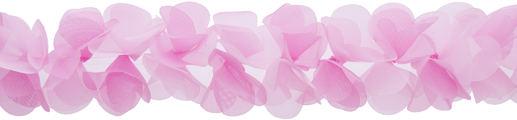 Wrights® Petals Folded Flowers Trim 2.25\u0027\u0027x10 yds-Ombre Pink