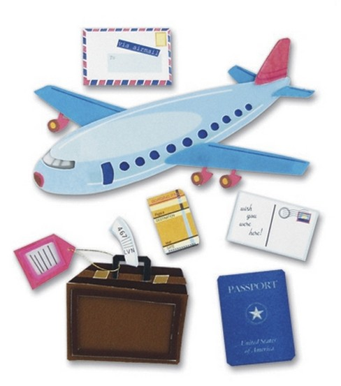 Jolee\u0027s Boutique Themed Ornate Stickers-Airplane Travel