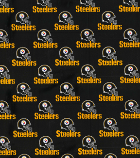 Pittsburgh Steelers Cotton Fabric 58\u0022-Black