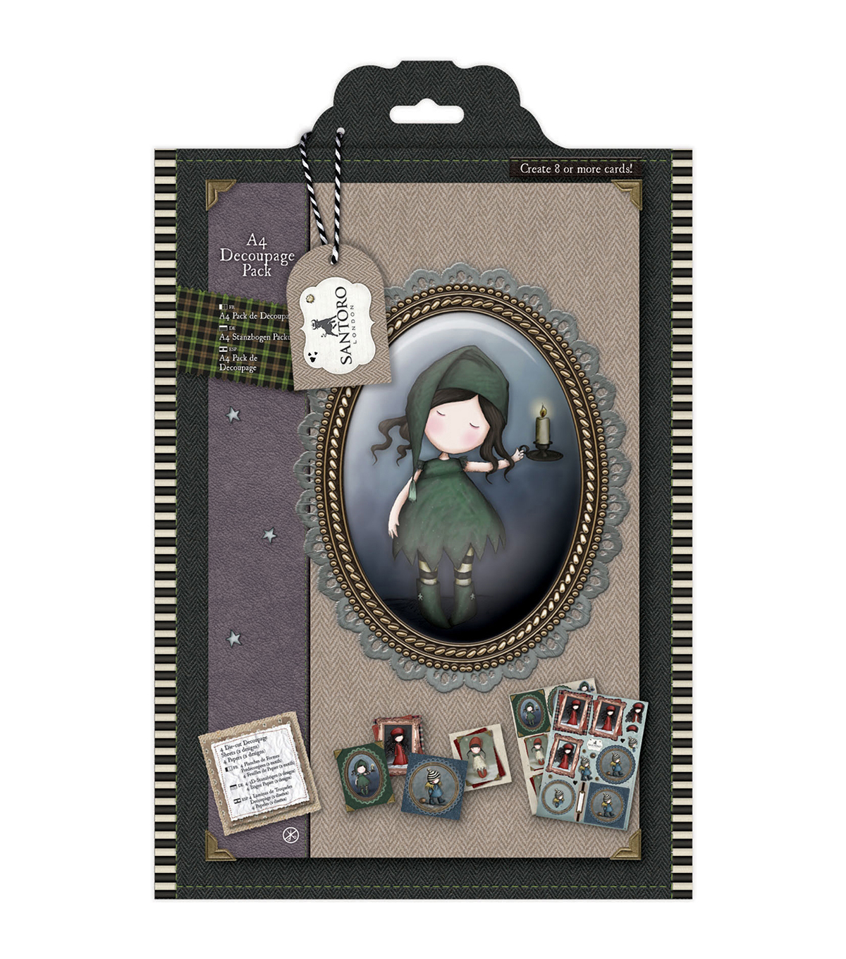 Santoro Gorjuss Tweed A4 Decoupage Pack-Nightlight