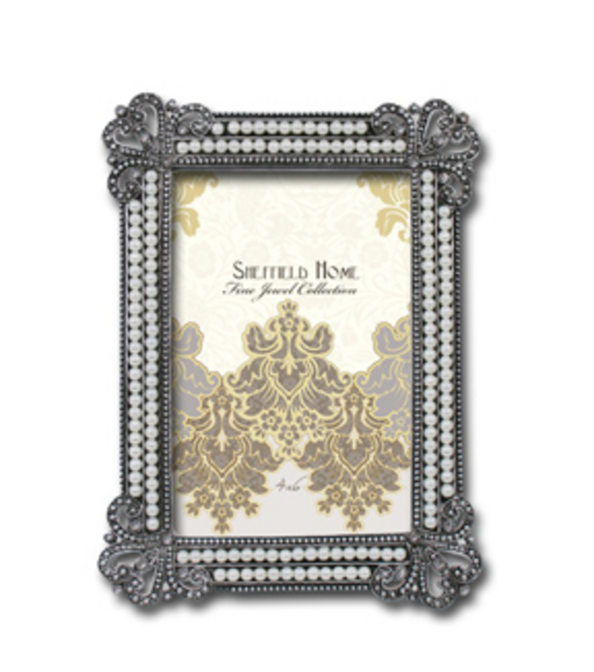 Tabletop Frame 4X6-Jeweled/Pearl