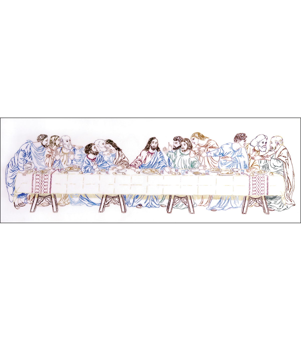 Tobin Last Supper Stamped Embroidery Kit