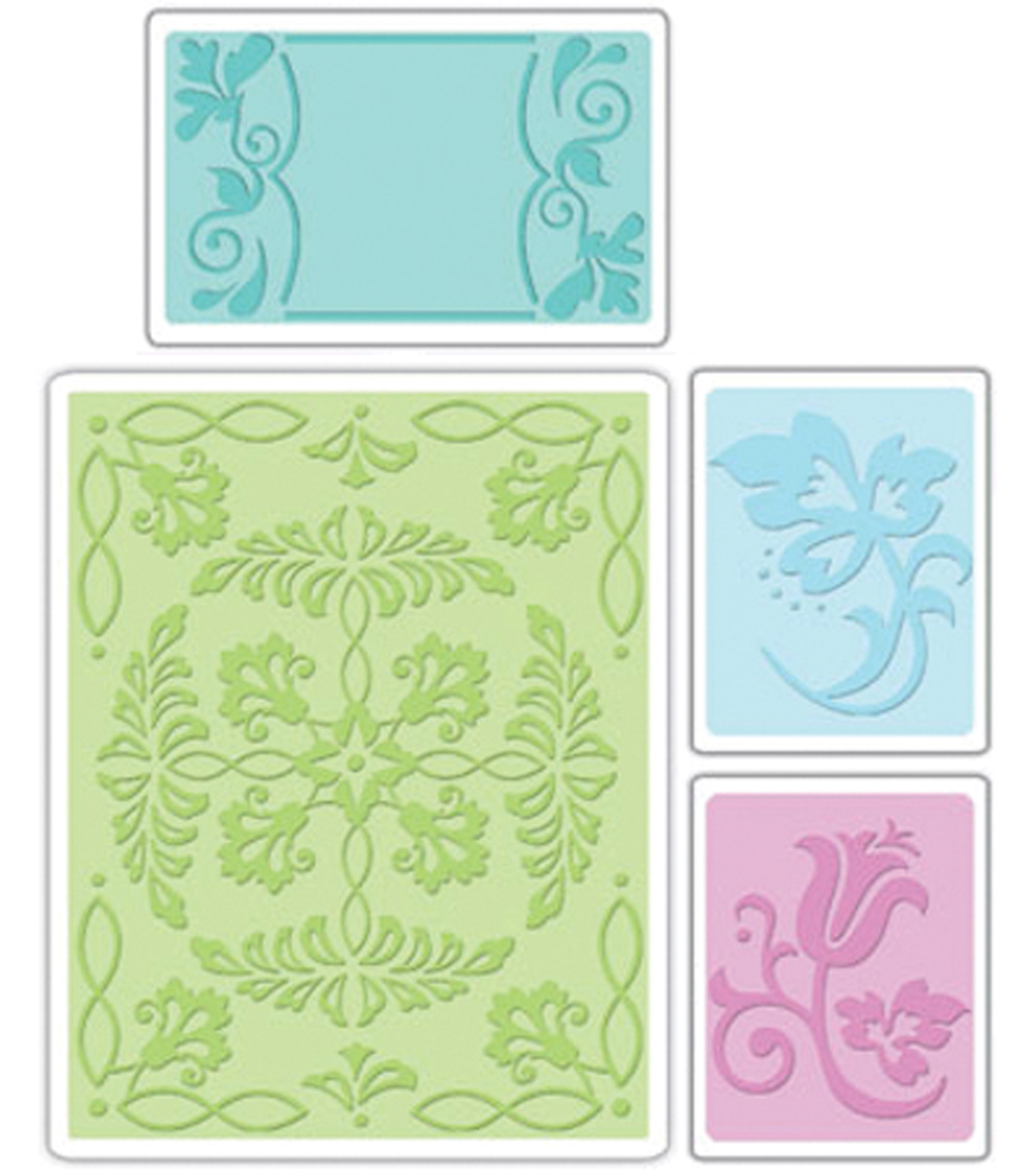 Sizzix Textured Impressions Embossing Folders Ornate Flowers Frame
