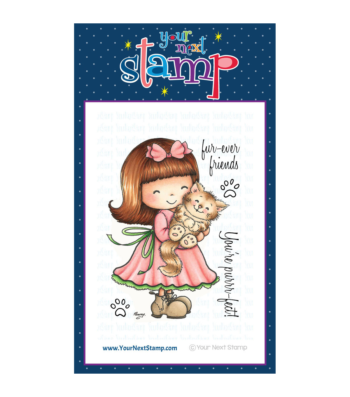 Your Next Stamp Clear Stamps-Jessica With Her Kitty