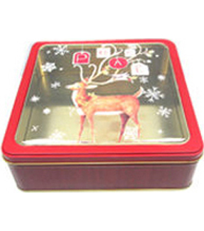 Holiday With Susan Winget Large Peace Deer Clear Lid Square