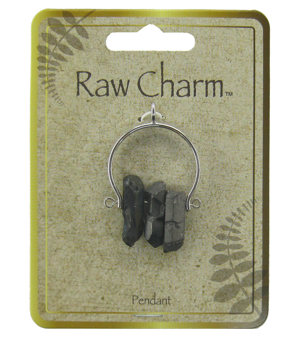 Naturals Raw Charm Black Chips Pendant