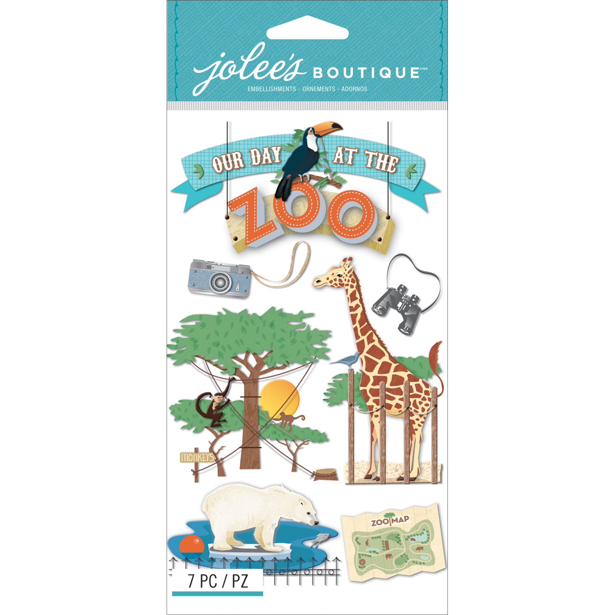 Jolee\u0027s Boutique Dimensional Stickers Zoo