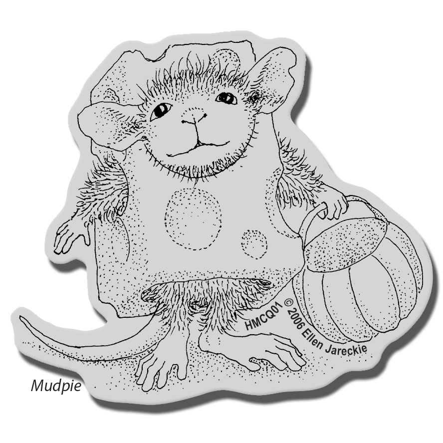 Stampendous House Mouse Cling Stamp Trick Or Cheese