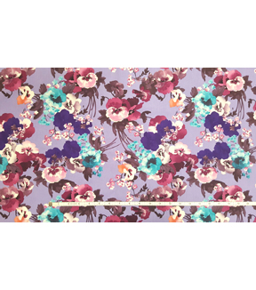 Two Daughters Fabric -  Purple Bloom Large