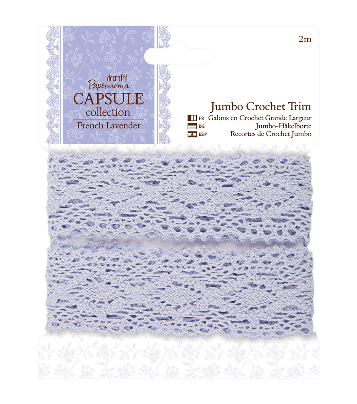 Papermania Capsule French Lavender Jumbo Crochet Trim