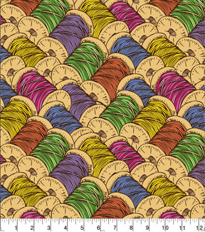 Snuggle Flannel Fabric 42\u0022-Colored Spools