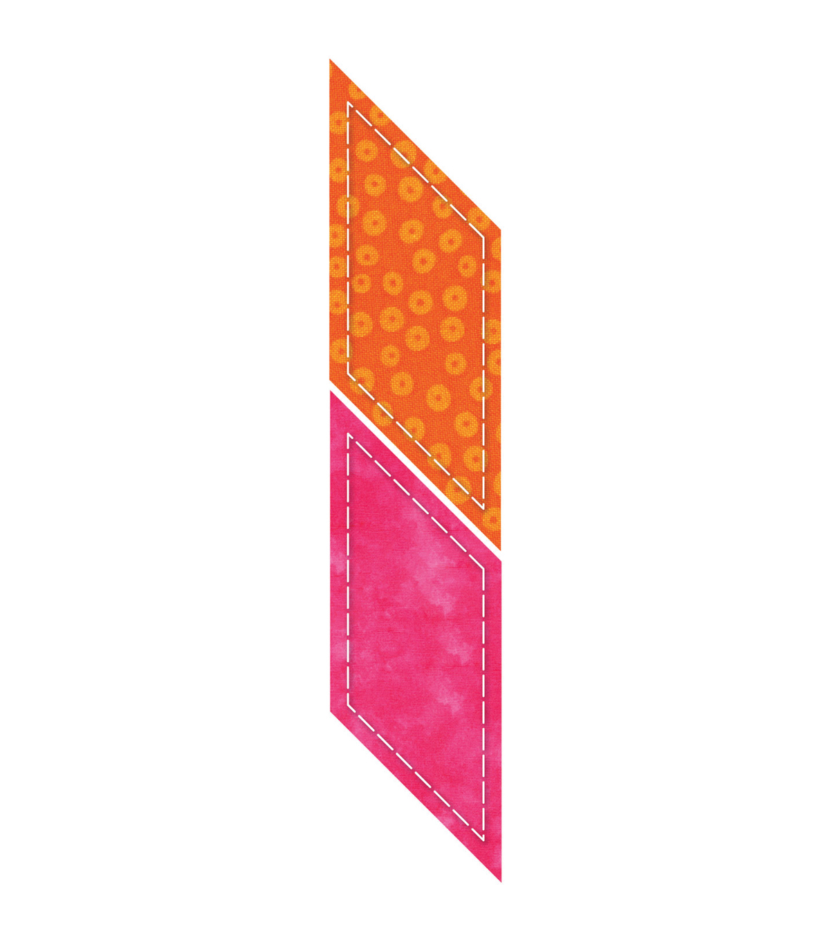 "GO! This & That Fabric Cutting Dies-Parallelogram 2-1/4""X3-3/16"" Finished"