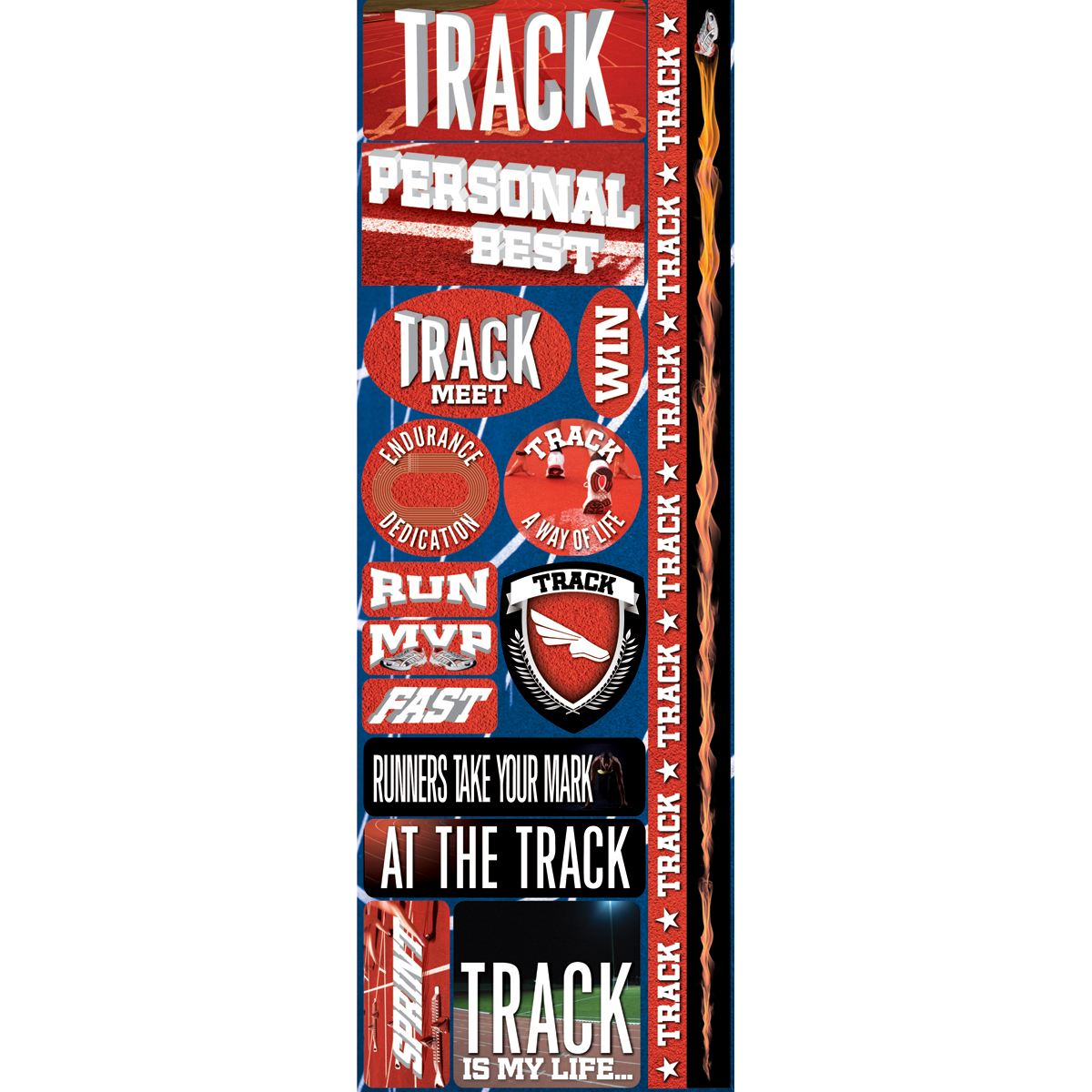 Track Cmbo-real Sport Stickers