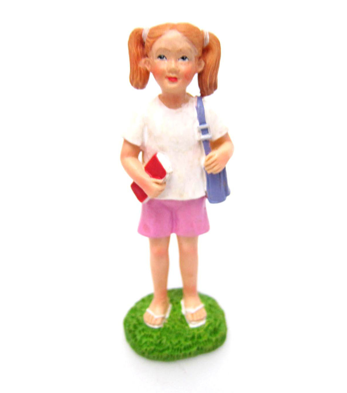 Bloom Room Littles Resin Girl with Backpack