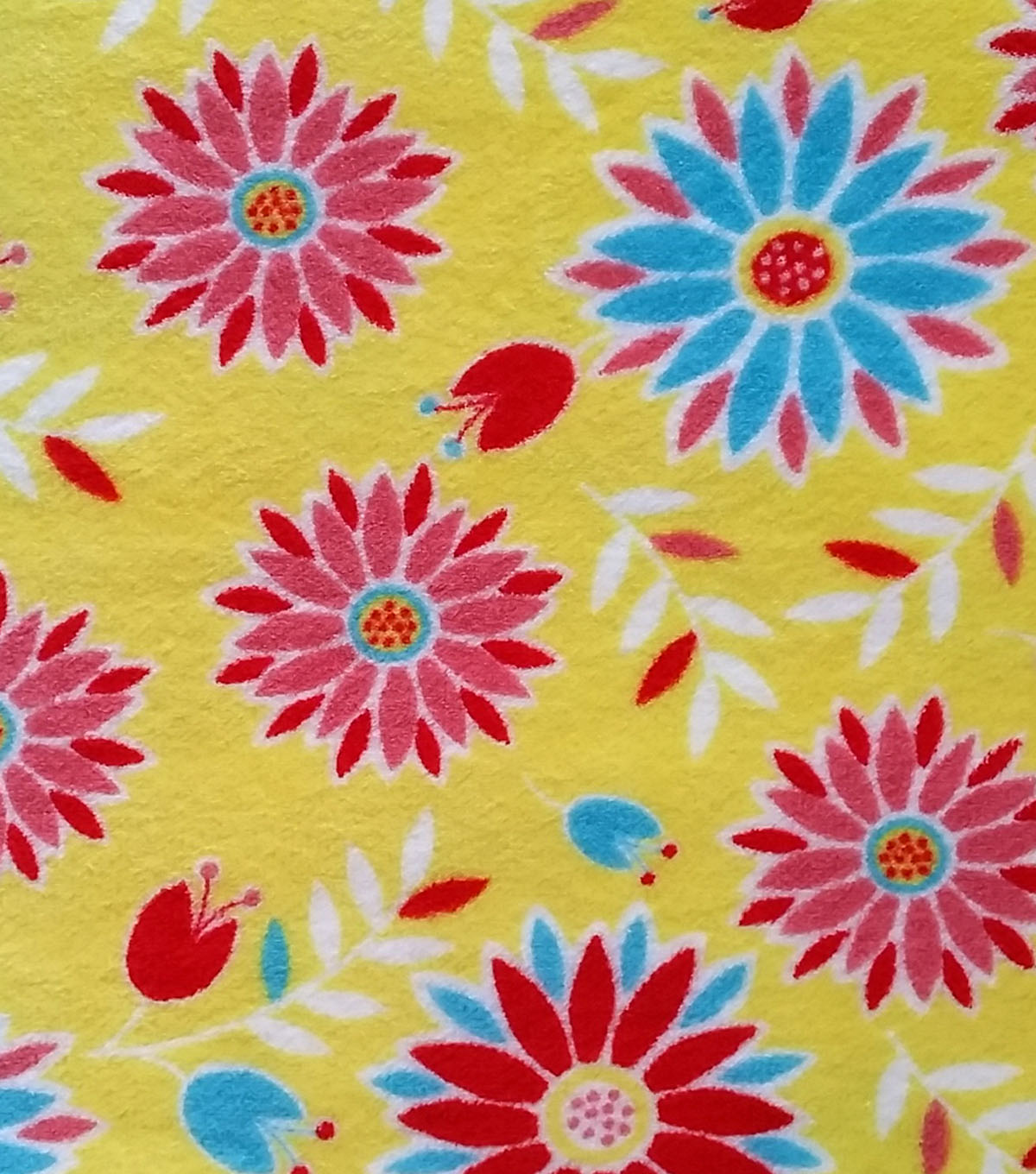 Ultra Fluffy Fabric- Happy Floral