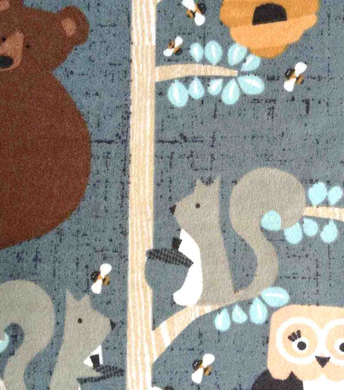 Snuggle Flannel Fabric 42\u0022-Honey Bears In Trees
