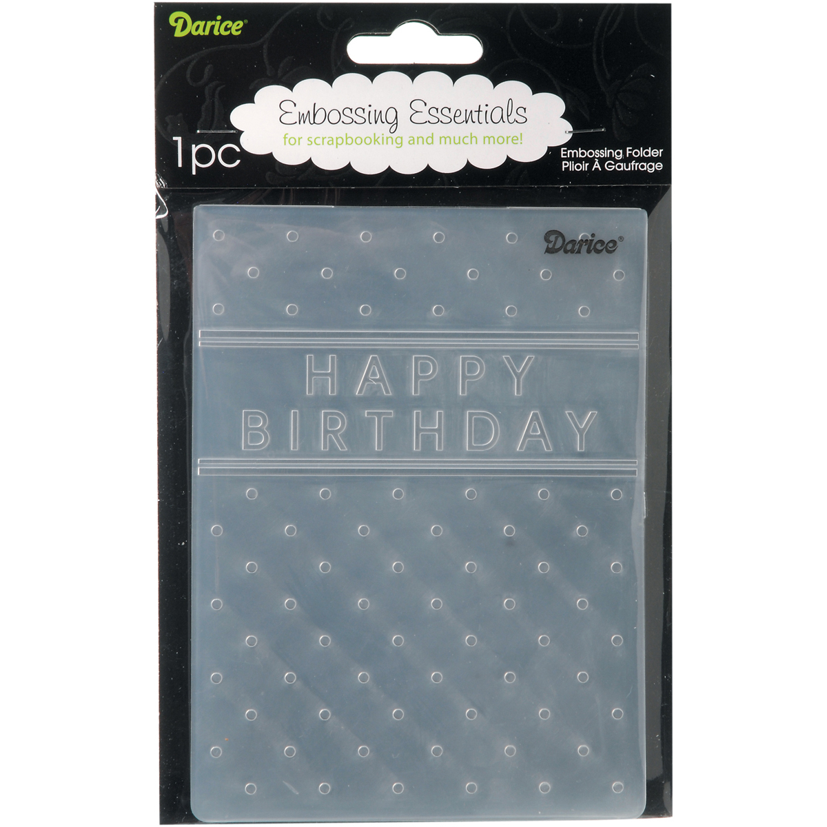 Embossing Folder 4.25\u0022X5.75\u0022-Happy Birthday