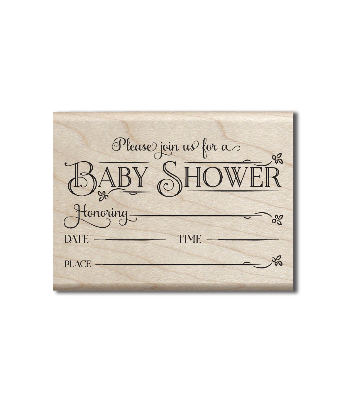 Graphic 45 Wood Stamp-Baby Shower