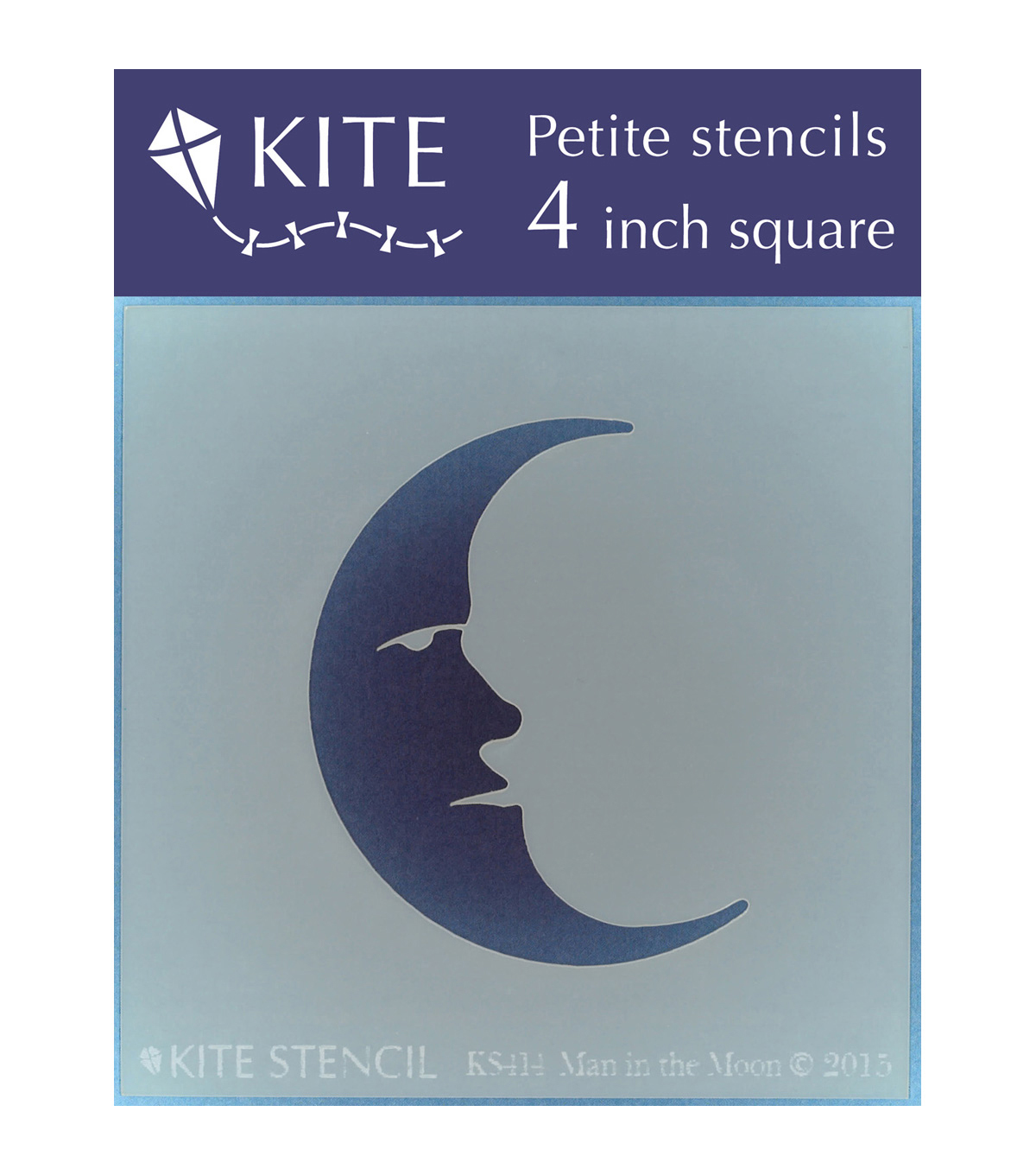 Judikins Kite Petite Stencil Square-Man In The Moon