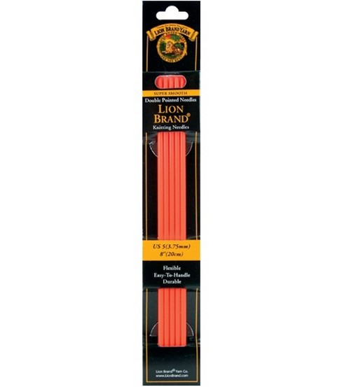 Lion Brand Double Point Knitting Needles 8\u0022-Size 9 5.50mm