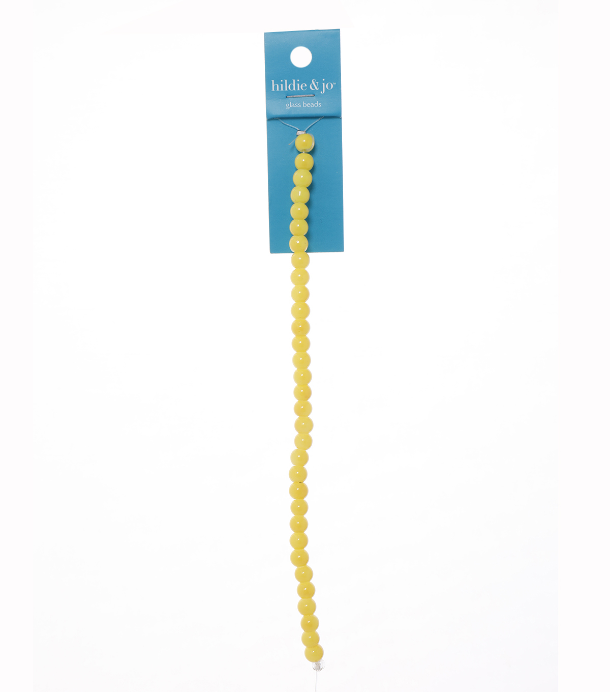 Blue Moon Beads Strand 7\u0022 Ceramic Round, Yellow