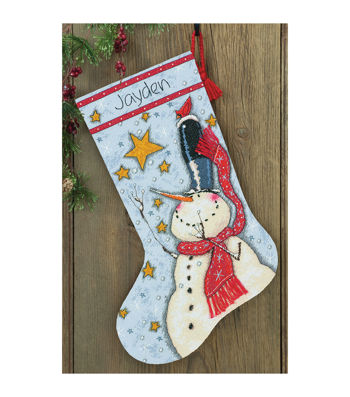 16 Long  -Tall Hat Snowman Stk