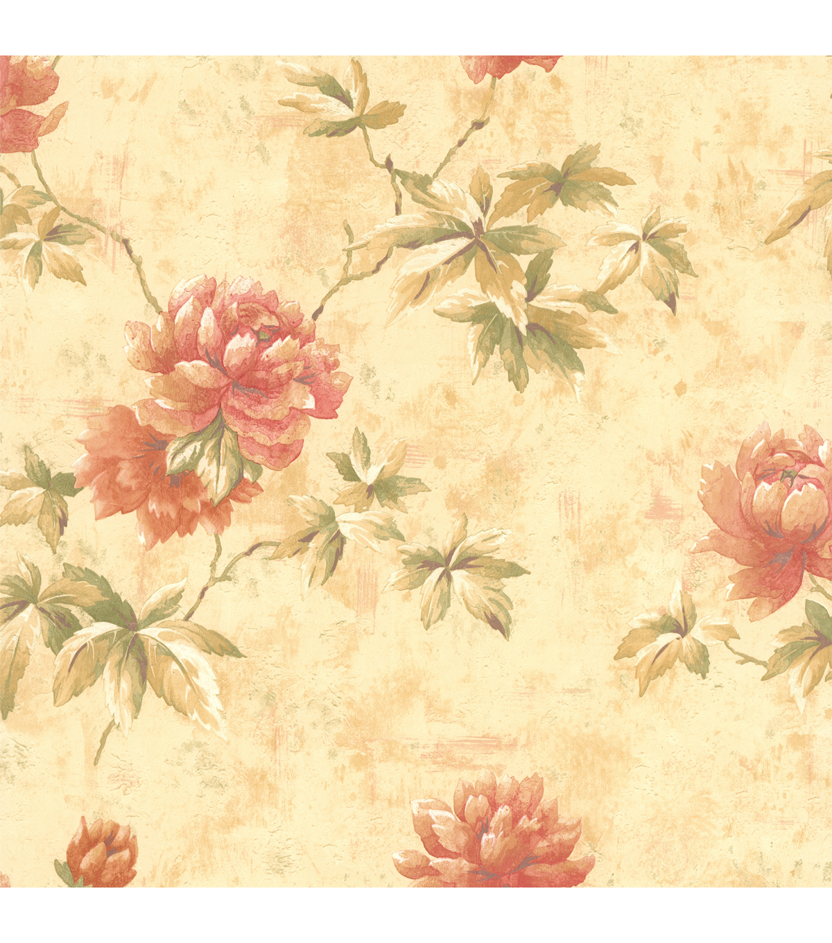 Carmela Beige Floral Wallpaper Sample