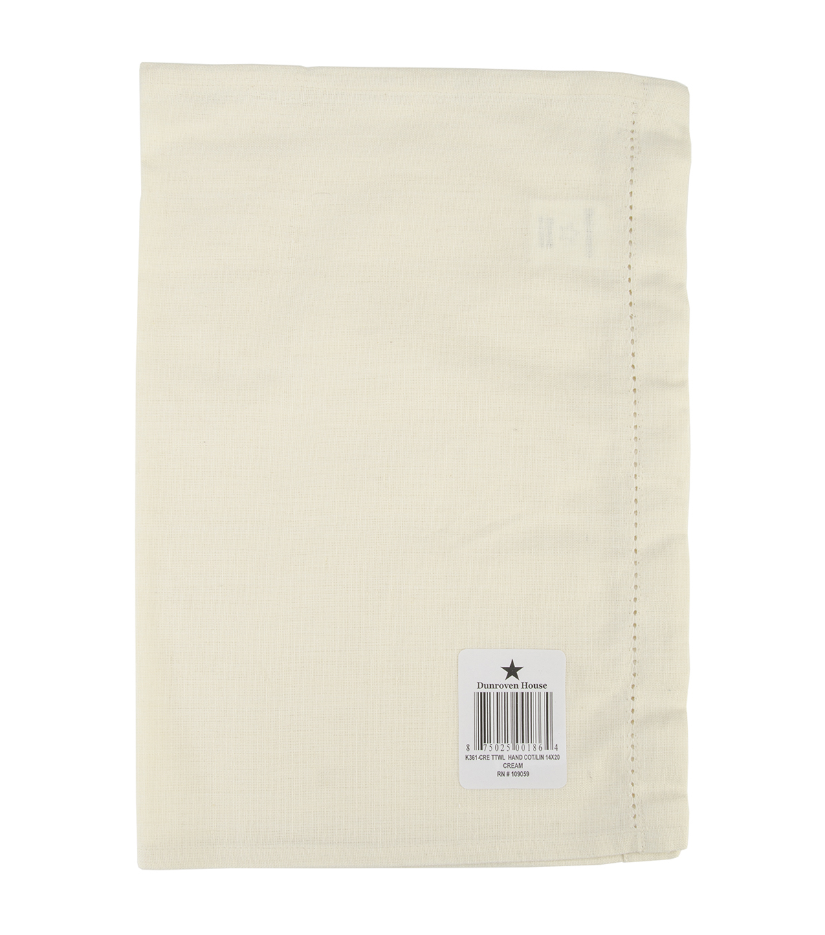 "Cotton/Linen Blend Hand Towel 14""X20""-Cream"