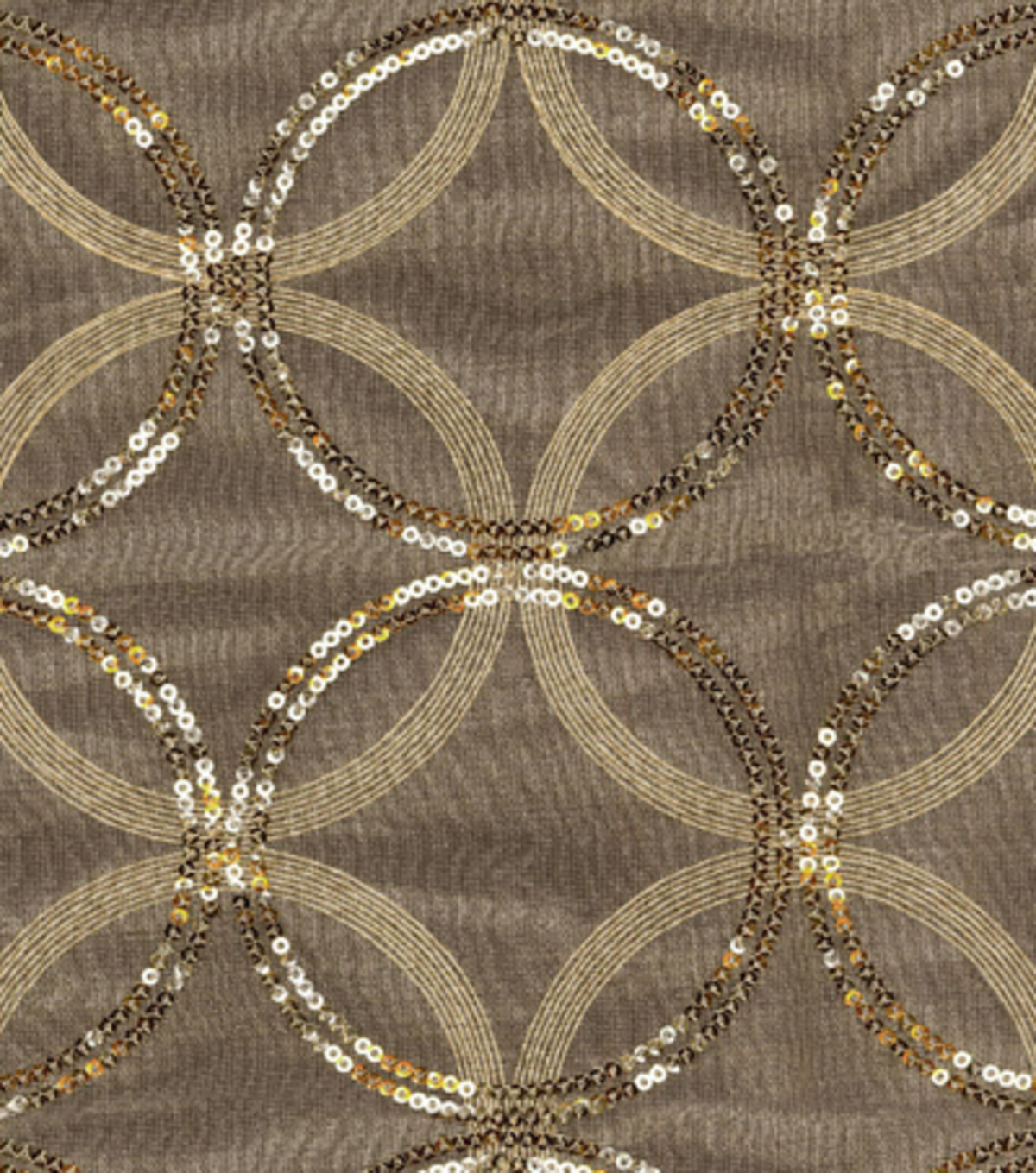 HGTV Home Sheer Fabric-Sparkle Plenty Gold
