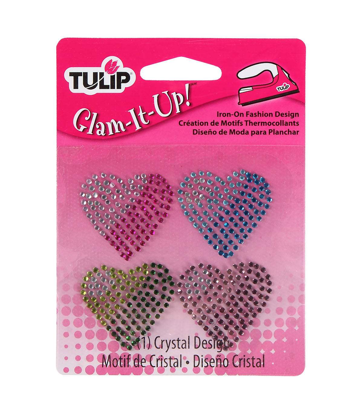 Tulip® Glam-It-Up! Iron-On Fashion Designs Hearts Pack