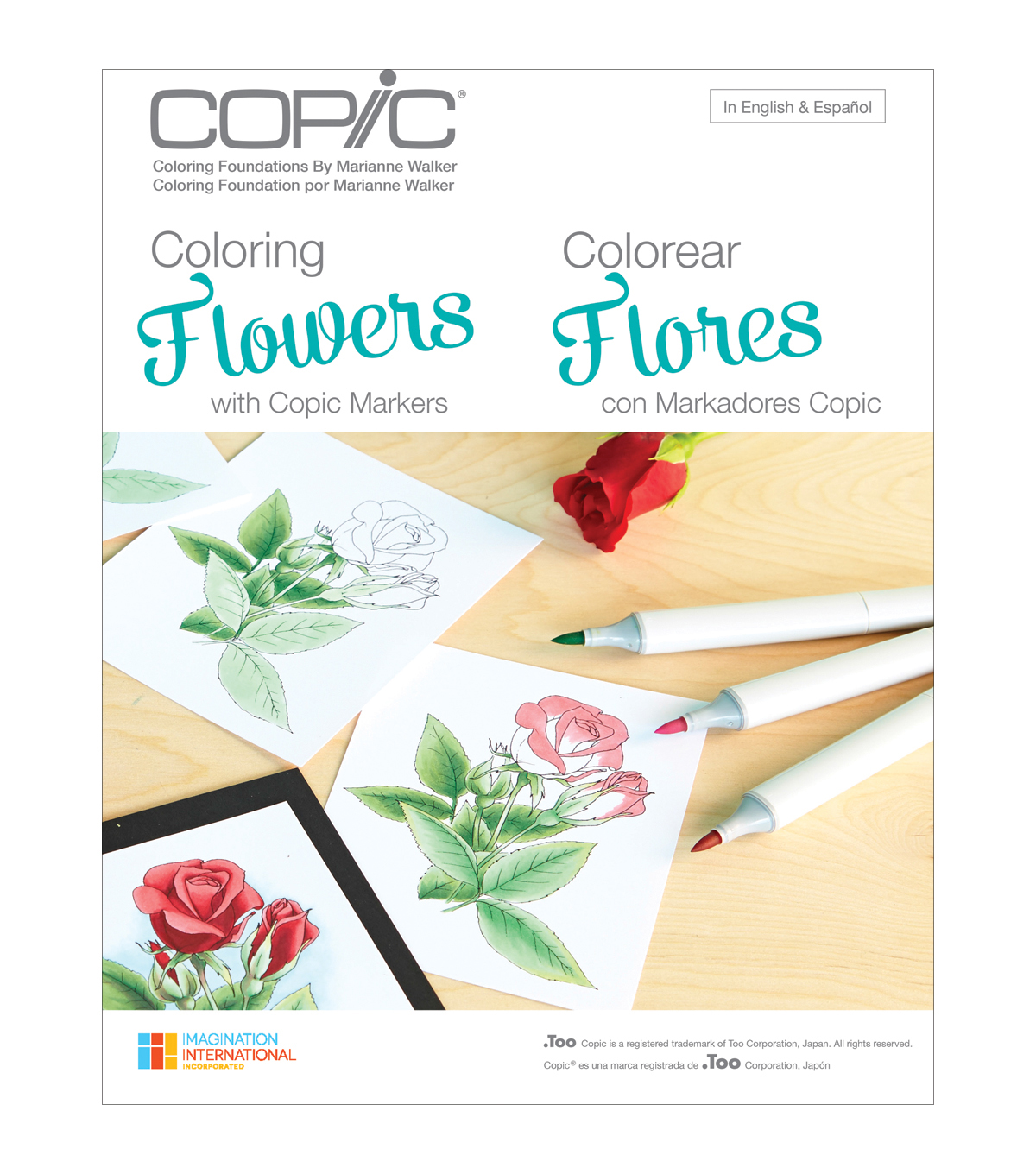 Marianne Walker Coloring Flowers Book
