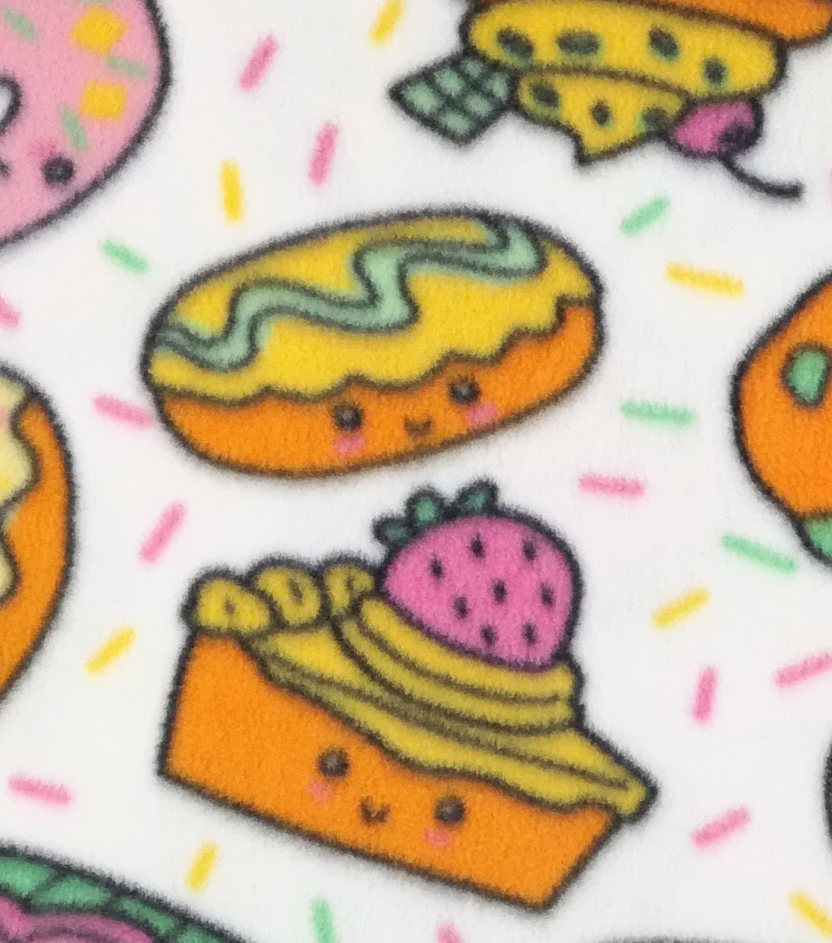 "Anti-Pill Fleece Fabric 59""-Sweet Tooth Explosion"