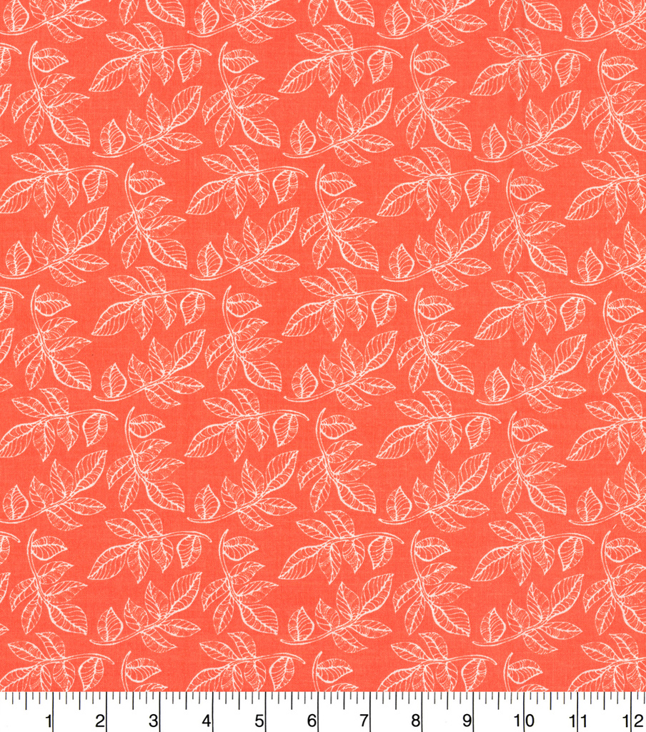 Quilter\u0027s Showcase™ Cotton Fabric 44\u0022-Leaf Coral
