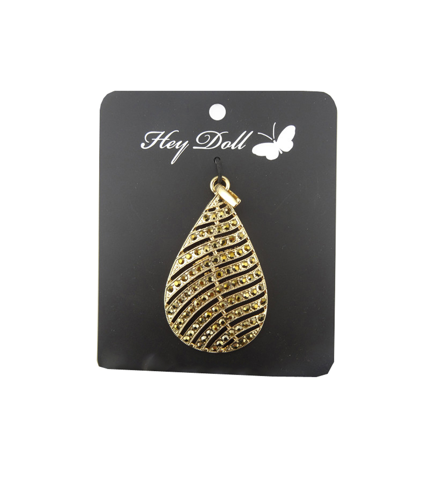 Feather Pendent Champagne