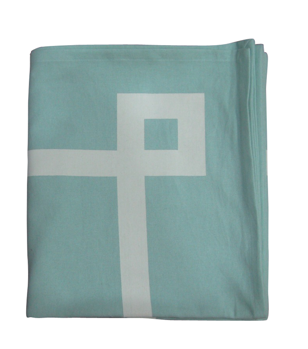 Easter 9'x5' Rectangular Tablecloth-Blue With White Border