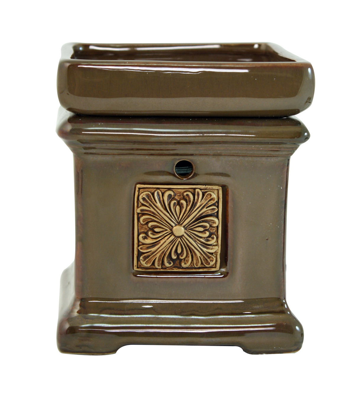 Hudson 43™ Candle & Light Collection Brown Square Emblem Warmer