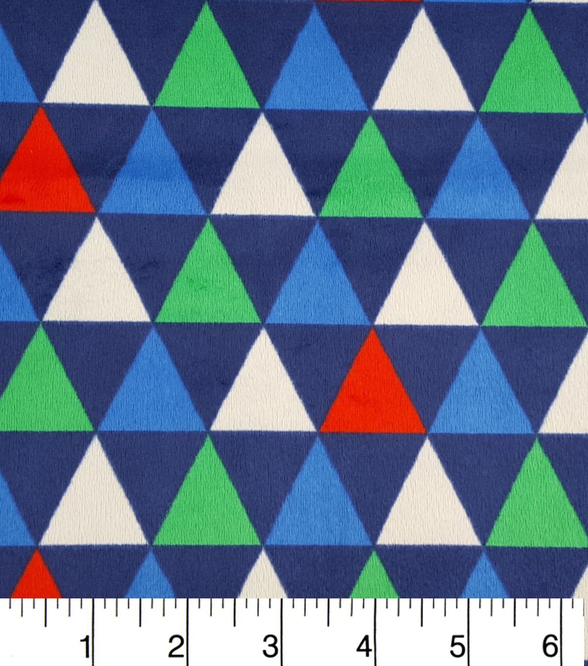 Soft N Comfy Fabric 57\u0022-Primary Triangles