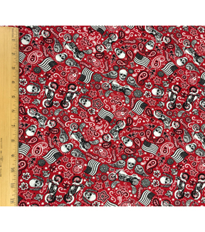 Novelty Cotton Fabric-Motorcycle Bandana